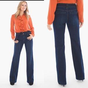 Chico's Tie-Waist Platinum Trouser Jeans